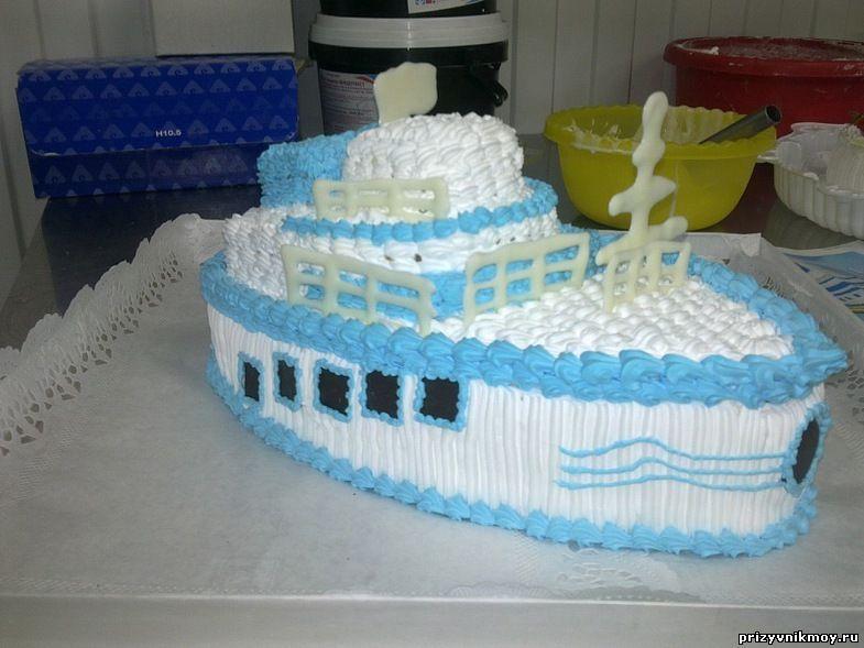 Торт корабль своими руками пошагово без мастики 69