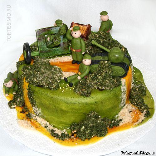 Торт для военных фото