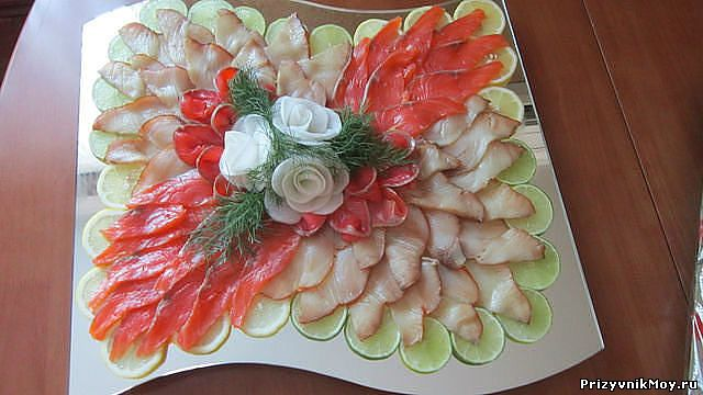 Фото украшений салатов и закусок